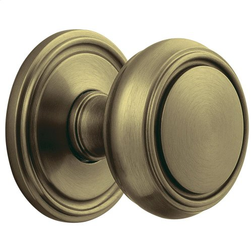 Satin Brass and Black 5068 Estate Knob