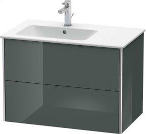 Vanity Unit Wall-mounted, Dolomiti Grey High Gloss Lacquer