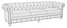 "London Club Sofa (92-1/2"") in Molasses (780)"