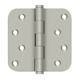 """4""""x 4""""x 5/8"""" Radius Hinge / Zig-Zag - Brushed Nickel"""