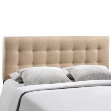 Emily Full Upholstered Fabric Headboard in Beige