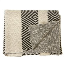 Black & White Diamond Knit Throw.