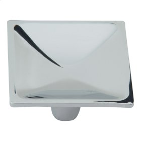 Dap Square Knob 2 Inch - Polished Chrome