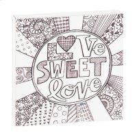 """Love Sweet Love"" Magnet Block. Product Image"