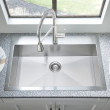 Edgewater 33x22 Stainless Steel Kitchen Sink  American Standard - Stainless Steel