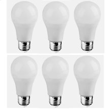 LED A19, 5000K, 300°, CRI80, ES, UL, 6.5W, 40W EQUIVALENT, 25000HRS, LM480, DIMMABLE, 3 YEARS WARRANTY, INPUT VOLTAGE 120V 6 PACK