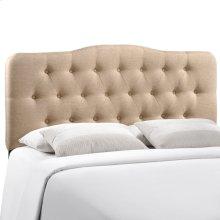 Annabel Full Upholstered Fabric Headboard in Beige
