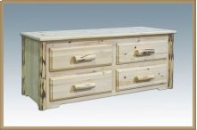 Montana Log 4 Drawer Sitting Chest