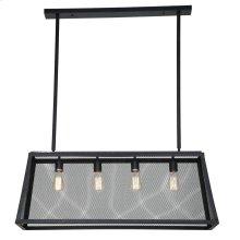 Luminaire Matte Black 4-Light Wire Pendant