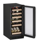 """1000 Series 15"""" Wine Captain® Model With Black Frame Finish and Field Reversible Door Swing Product Image"""