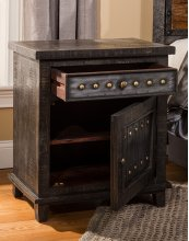 Bolt Accent Table - Dark Graywash