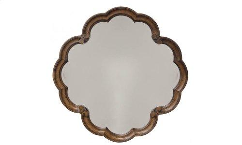 Continental Round Mirror - Weathered Nutmeg