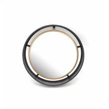 "Corrugated Metal/gold Mirror 15.75"""