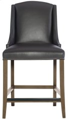 Slope Leather Bar Stool in Smoke Product Image