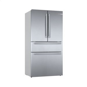 Bosch800 Series French Door Bottom Mount Refrigerator Easy clean stainless steel B36CL80SNS