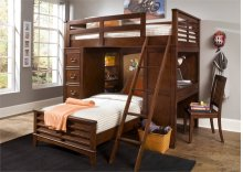 Twin Loft Bed w Cork Bed
