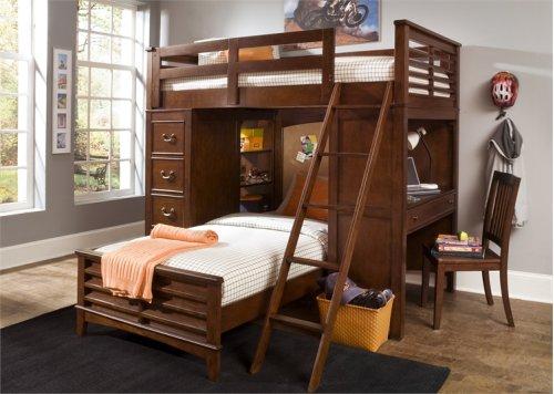 Twin Loft Bed w Cork Bed