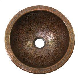 Aldwyn Medium Round Undermount Basin - Hammered Antique Copper