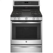 "30"" Smart Dual-Fuel Free-Standing Convection Range with Warming Drawer"