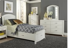 Full One Sided Storage Bed, Dresser & Mirror