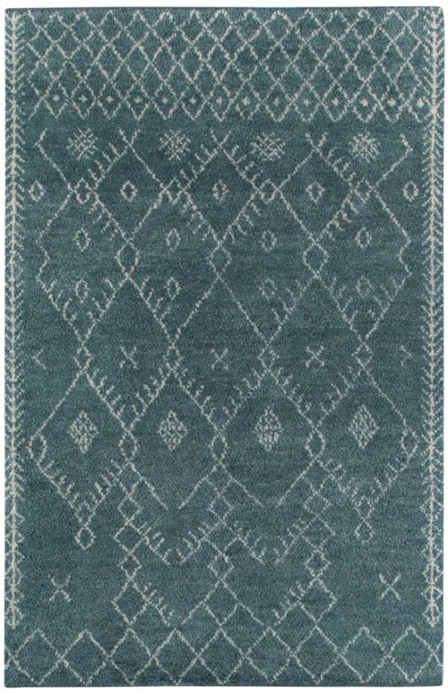 Kasbah-Diamond Aqua Hand Knotted Rugs