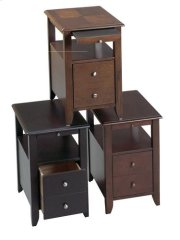 Black Chair Side Table Product Image