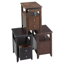 Black Chair Side Table