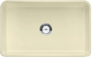 "Blanco Cerana® II 30"" Single Bowl With Apron - Biscuit"
