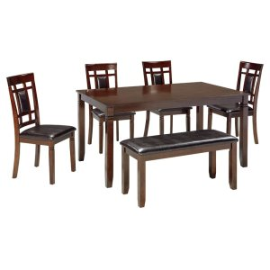 Ashley FurnitureSIGNATURE DESIGN BY ASHLEBennox Dining Room Table and Chairs With Bench (set of 6)
