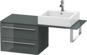 Low Cabinet For Console, Dolomiti Grey High Gloss Lacquer