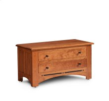Aspen Blanket Chest with False Fronts, Fabric Cushion Top