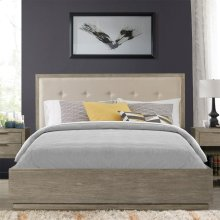Zoey - King/california King Upholstered Panel Headboard - Urban Gray Finish