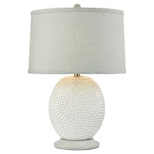 Bjorko Table Lamp In White With Pale Green Shade