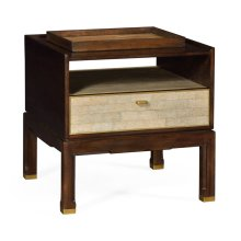 Small Lymed Mink Bedside Table with Tray