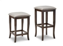 "Yorkshire 24"" Counter Stool With Fabric/Bonded Leather Seat"