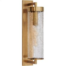 Visual Comfort KW2123AB-CRG Kelly Wearstler Liaison 1 Light 20 inch Antique-Burnished Brass Outdoor Wall Sconce, Large Bracketed