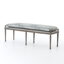 """68"""" Size Batik Indigo Cover Lucille Dining Bench"""