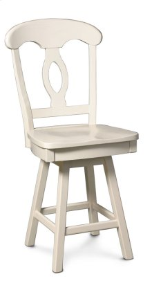 "Carlo Swivel Barstool, Specify Seat Height 17""-31"", Fabric Seat"