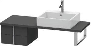 Vero Low Cabinet For Console Compact, Graphite Matt (decor)