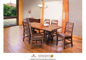 Iron Table Base - Brown Color - KD system