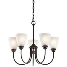 Jolie 5 Light Chandelier with LED Bulbs Olde Bronze®