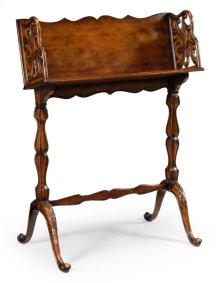 Victorian Walnut Floor Standing Book Trough