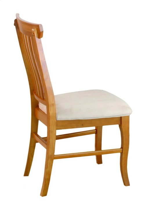 Venetian Dining Chairs Set of 2 with Oatmeal Cushion in Caramel Latte