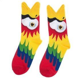 Red Parrot Big Mouth Socks - Women's Size 9-11