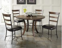 Cameron 5pc Round Wood Dining Set With Ladder Back Chairs