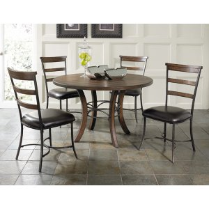 Hillsdale FurnitureCameron 5pc Round Wood Dining Set With Ladder Back Chairs