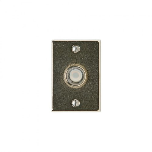 Metro Doorbell Button White Bronze Brushed