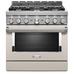 KitchenAidKitchenAid® 36'' Smart Commercial-Style Gas Range with 6 Burners - Milkshake