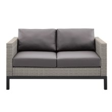 Metal Leg Wicker Finish Outdoor Set in Driftwood Grey (Component 2 of 3)