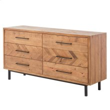 Belfast KD Dresser 6 Drawers, Harbour Brown